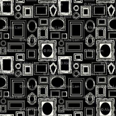 salon wall, black / white