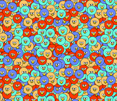 Bird Faces fabric by spacefem on Spoonflower - custom fabric