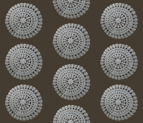 Lacy Circle fabric by loopy_canadian on Spoonflower - custom fabric
