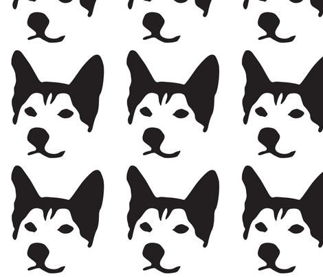 Husky Large fabric by mariafaithgarcia on Spoonflower - custom fabric
