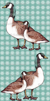 Canada Geese and Snowflakes