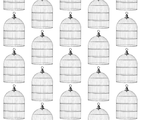 Bird Cages fabric by peacefuldreams on Spoonflower - custom fabric