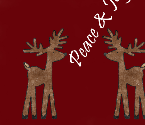 Peace and Joy Reindeer fabric by peacefuldreams on Spoonflower - custom fabric