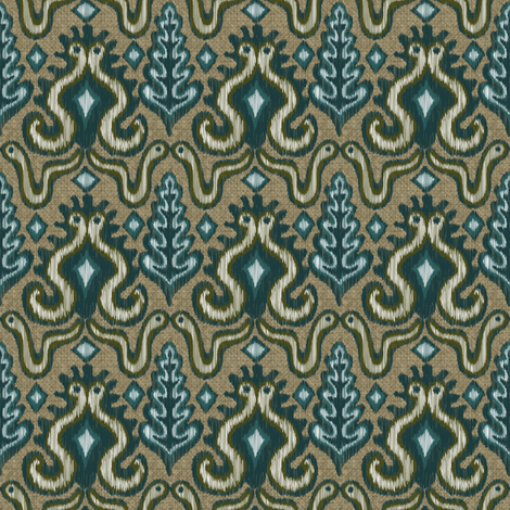 A Slithering Ikat fabric by vo_aka_virginiao on Spoonflower - custom fabric