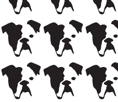 Bulldog Large fabric by mariafaithgarcia on Spoonflower - custom fabric