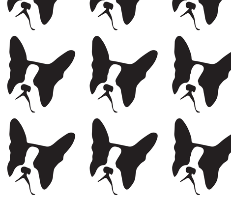 Boston Terrier Large fabric by mariafaithgarcia on Spoonflower - custom fabric