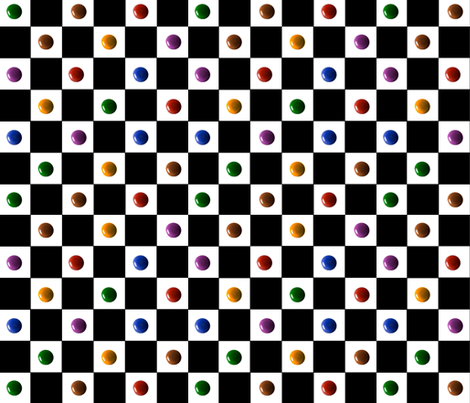 Checkerboard with bright paint drops fabric by whimzwhirled on Spoonflower - custom fabric