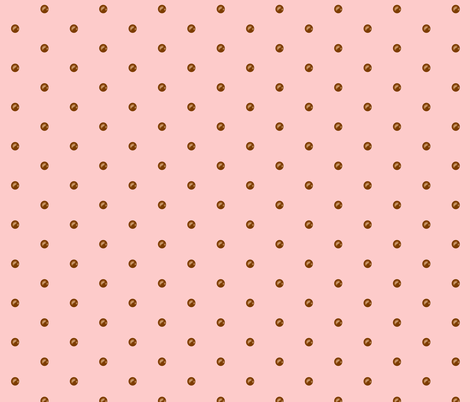 Chocolate Drops on Pink Lemonade fabric by theresa_grzecki on Spoonflower - custom fabric