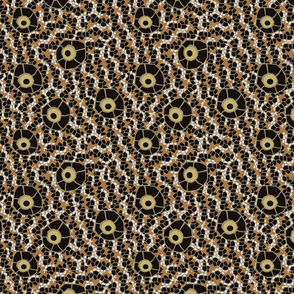 snake eye mosaic brown