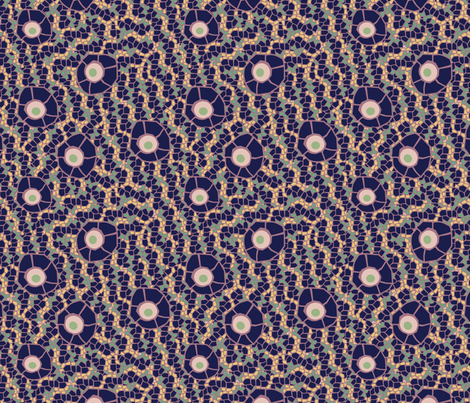 snake eye mosaic violet fabric by kociara on Spoonflower - custom fabric