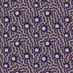 snake eye mosaic violet