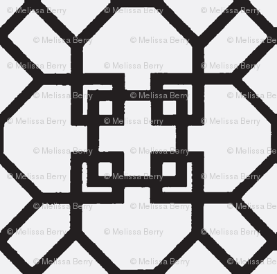 Lattice- Black/White-Large