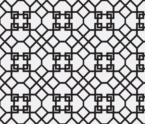 Lattice- Black/White-Large fabric by mrsmberry on Spoonflower - custom fabric