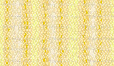 Snakeskin in yellow
