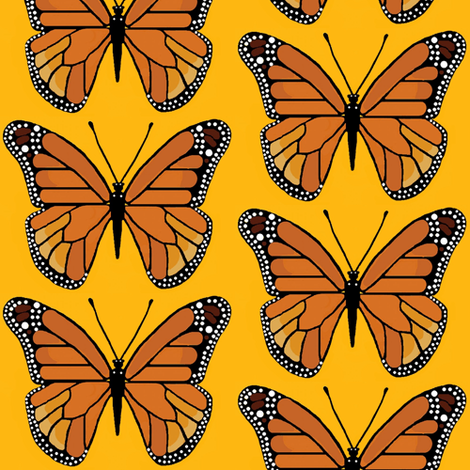 Monarch butterfly  fabric by paragonstudios on Spoonflower - custom fabric