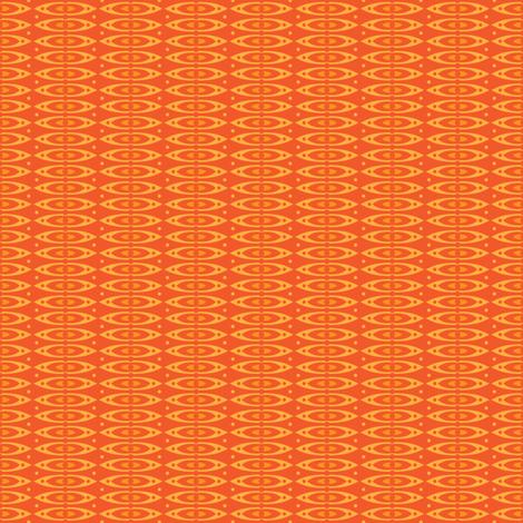 Boho Stripes (Orange) fabric by robyriker on Spoonflower - custom fabric