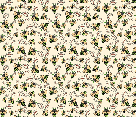 Euglossa Bazinga fabric by studiofibonacci on Spoonflower - custom fabric