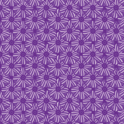 Boho Blossoms Tile (Purple) fabric by robyriker on Spoonflower - custom fabric