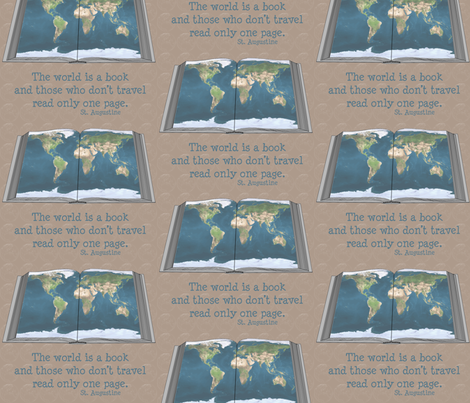 the_world_is_a_book fabric by mammajamma on Spoonflower - custom fabric