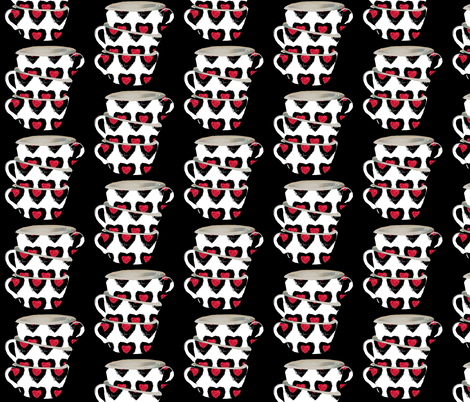Cups of Love large print fabric by karenharveycox on Spoonflower - custom fabric