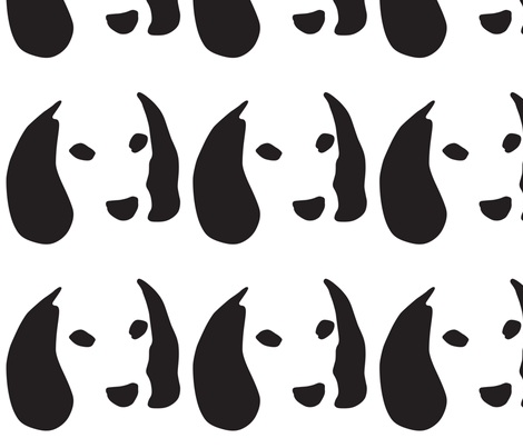 beagle large fabric by mariafaithgarcia on Spoonflower - custom fabric