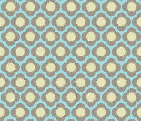 Orla blue fabric by designedtoat on Spoonflower - custom fabric