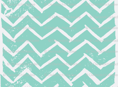 Chevron - Hand Carved Stamp - Med Turquiose