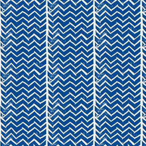 Chevron - Hand Carved Stamp - Dk. Blue