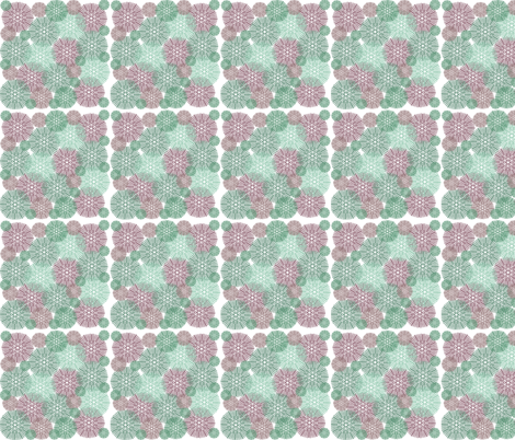 Red and Green Bursts fabric by peacefuldreams on Spoonflower - custom fabric