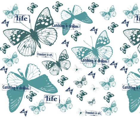 Dreaming Butterflies fabric by peacefuldreams on Spoonflower - custom fabric