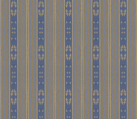 chopstix - blue & tan fabric by materialsgirl on Spoonflower - custom fabric