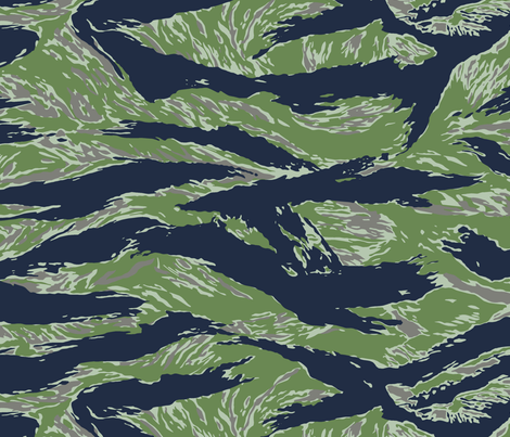 Silver Tiger Stripe Camo fabric by ricraynor on Spoonflower - custom fabric