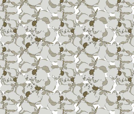 Southern-Magnolia-flower fabric by cutiecat on Spoonflower - custom fabric