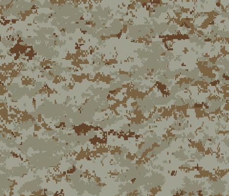 Marine MARPAT Digital Desert Camo fabric by ricraynor on Spoonflower - custom fabric