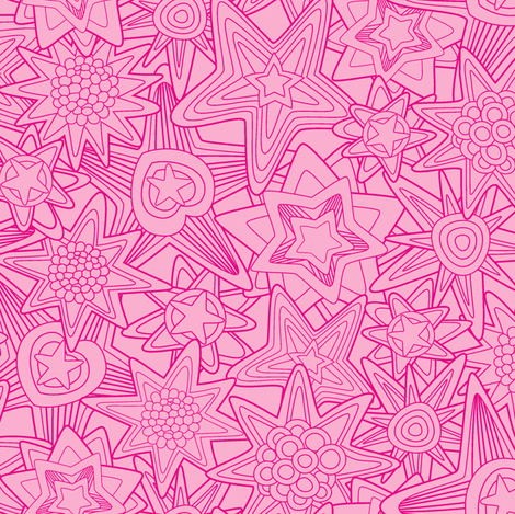 My_dreams-in_pink fabric by juliagrifol on Spoonflower - custom fabric