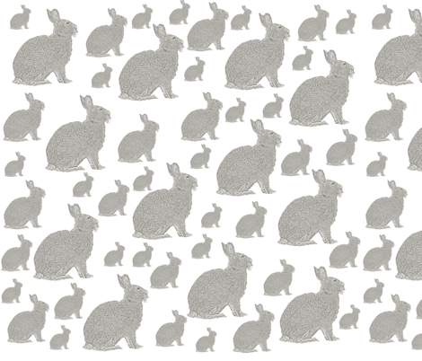 Cute Bunnies fabric by peacefuldreams on Spoonflower - custom fabric
