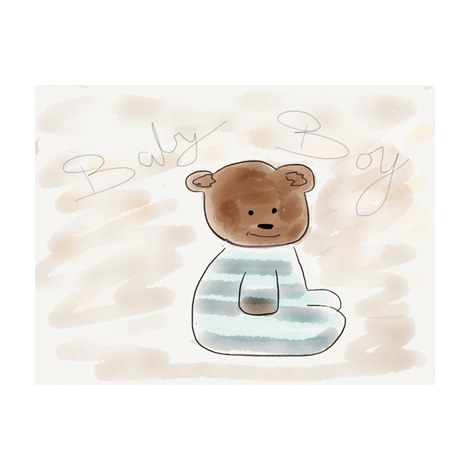 Baby boy bear fabric by zous_co_uk on Spoonflower - custom fabric
