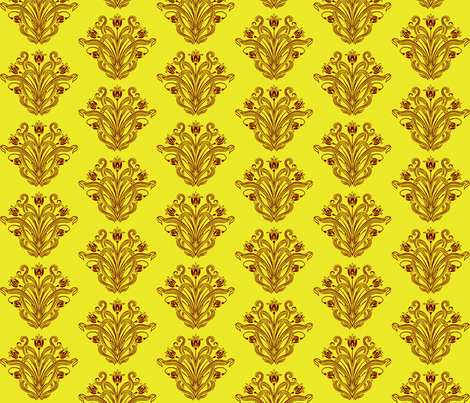 Beau Hearts gold  fabric by flyingfish on Spoonflower - custom fabric