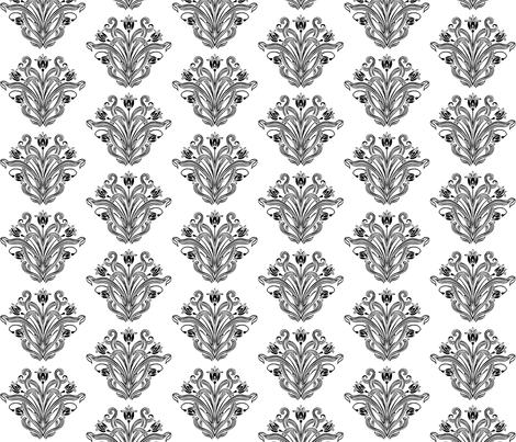 Beau Hearts b&w fabric by flyingfish on Spoonflower - custom fabric