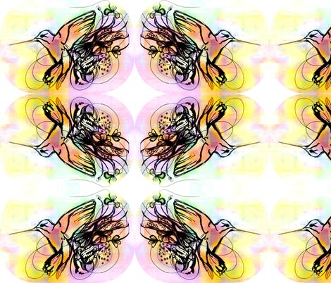 Hummingbird fabric by katharina~michaela on Spoonflower - custom fabric