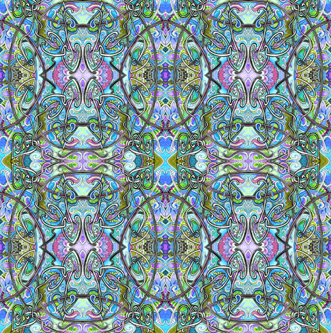 When Houseplants Hallucinate fabric by edsel2084 on Spoonflower - custom fabric