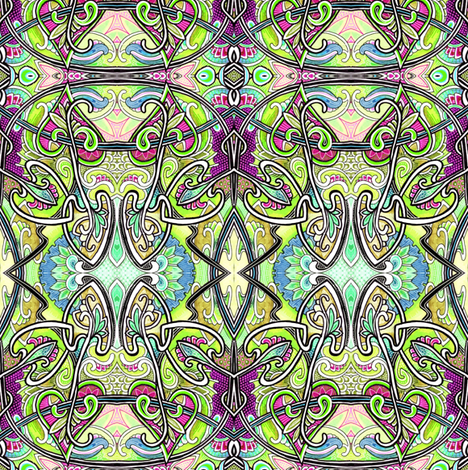 Tangled Homage to the 1880's fabric by edsel2084 on Spoonflower - custom fabric