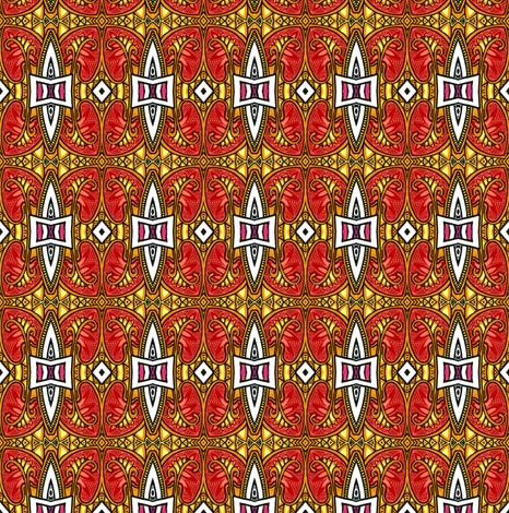 Rusty Tribal Pumpkin Dance fabric by edsel2084 on Spoonflower - custom fabric