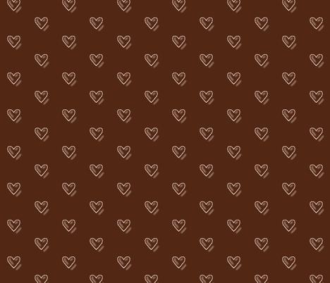 Chocolate Hearts fabric by theresa_grzecki on Spoonflower - custom fabric