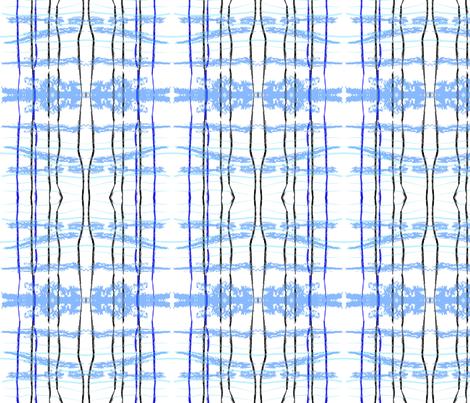 hidden blue fox ikat plaid fabric by laurl on Spoonflower - custom fabric