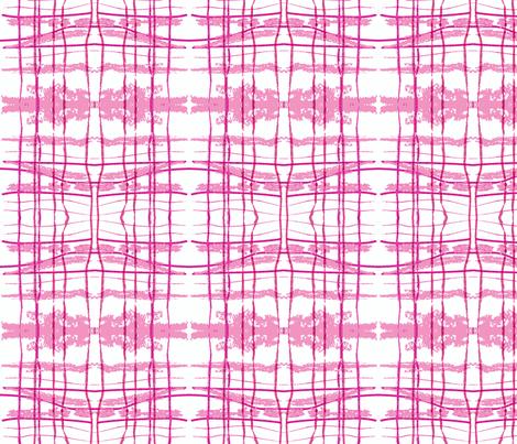 hidden pink fox ikat plaid fabric by laurl on Spoonflower - custom fabric