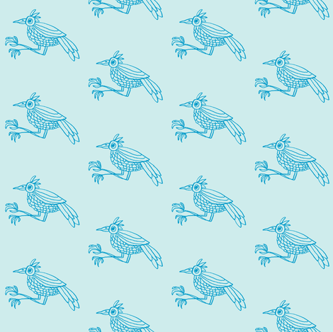 chirpy sky fabric by gollybard on Spoonflower - custom fabric