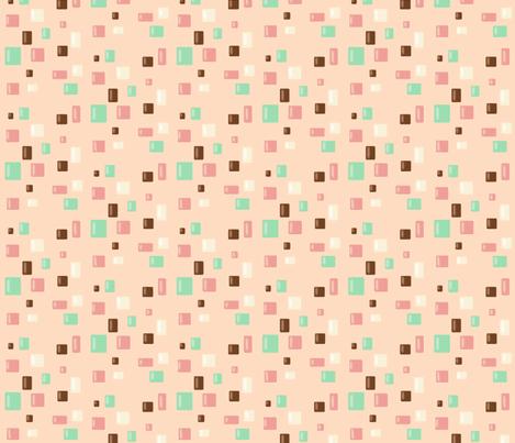 Candy Confetti on Pink Lemonade fabric by theresa_grzecki on Spoonflower - custom fabric