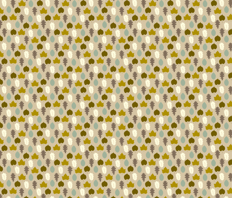 autumn_leaves (small) fabric by kaeselotti on Spoonflower - custom fabric