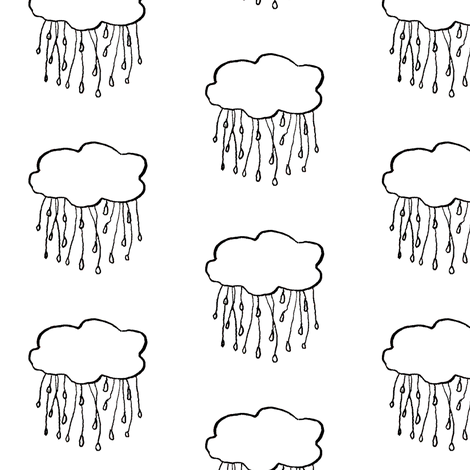 rain cloud fabric by gollybard on Spoonflower - custom fabric